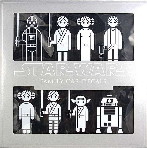 Star Wars Family Car Decals (Car Window Stickers Star Wars compare prices)