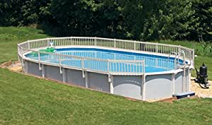 24-Inch Resin Above-Ground Pool Fence kit -Taupe- Base Kit A (8 Sections)