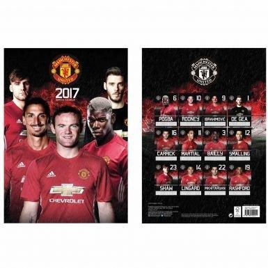 Manchester United 2017 Football Calendar