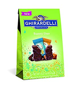 Ghirardelli Mixed Bunny Duo Chocolate Squares Bag, 15.2 Ounce