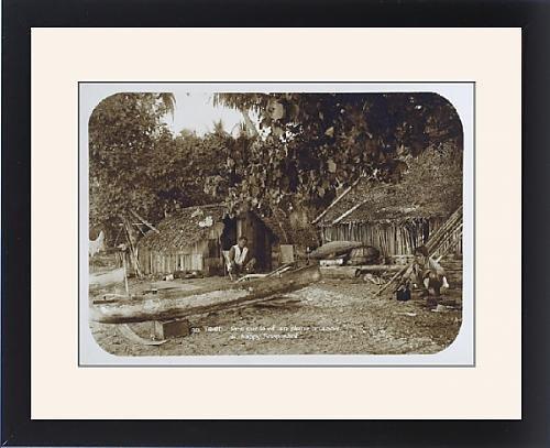 framed-print-of-a-tahitian-village-scene