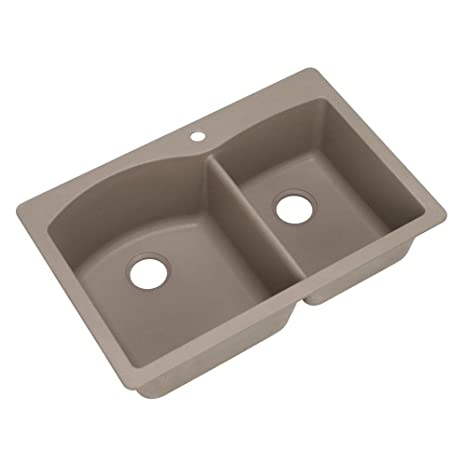Blanco 441283 Diamond 1-3/4 Bowl Silgranit II Sink, Truffle