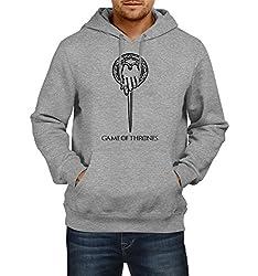 Fanideaz Men's Cotton Hand Of the King Game Of Thrones Hoodies For Men (Premium Sweatshirt)_Grey Melange_L
