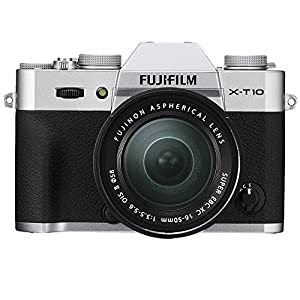 Fujifilm X-T10 Digital Camera with XC16 - 50 mm II Lens - Silver