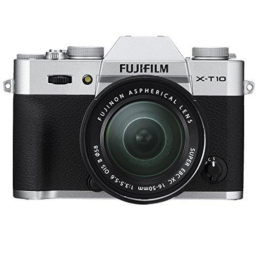 Fujifilm X-T10 Fotocamera Digitale con Obiettivo XC16-50 MM F3.5-5.6 OIS II, Argento