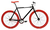 """Create Bikes """"The Original"""" Fixed Gear Single Speed Bicycle (Black/Red, 54 cm)"""
