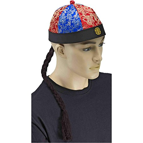 Chinese Hat with Braid - One Size