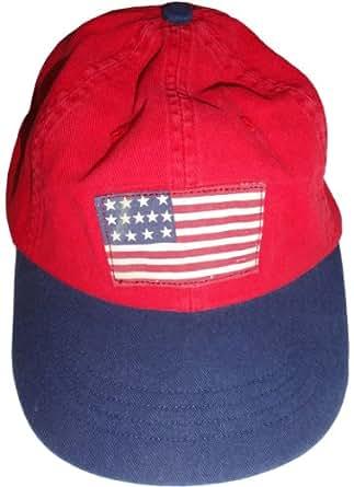 Men's Polo by Ralph Lauren Hat Ball Cap U.S.A. Flag Red
