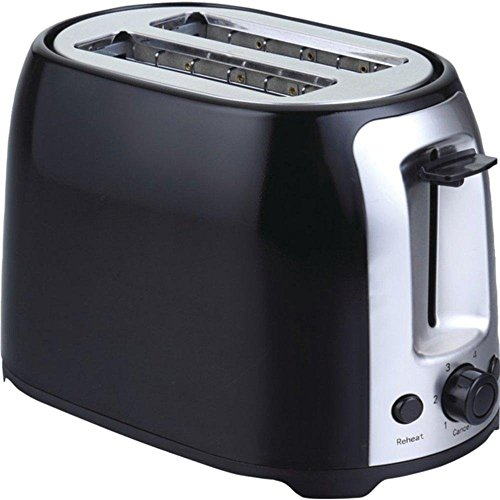 BRENTWOOD TS-292B 2-Slice Cool Touch Toaster (Black & Stainless Steel) consumer electronics (Toaster Pc compare prices)