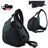 New First2savvv Black professional hardwearing waterproof DSLR digital camera / Lens / Tripod shoulder carrying case bag for FUJIFILM FinePix HS20EXR FinePix S4000 FinePix S4080 FinePix S3400 FinePix S3300 with neck strap