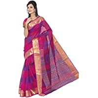 Jevi Prints Rani Gadwal Cotton Saree with Banarasi Border (Sindoor-2)