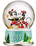Disneys Mickey and Minnie Mouse Holiday Snowglobe - 2015 Edition