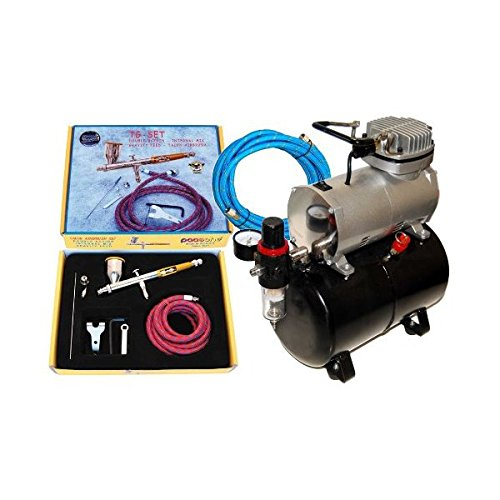 Paasche TG-SET Talon Airbrushing System with the Master TC-20T Air Compressor With Tank