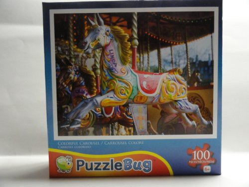 PuzzleBug Colorful Carousel 100 Piece Jigsaw Puzzle