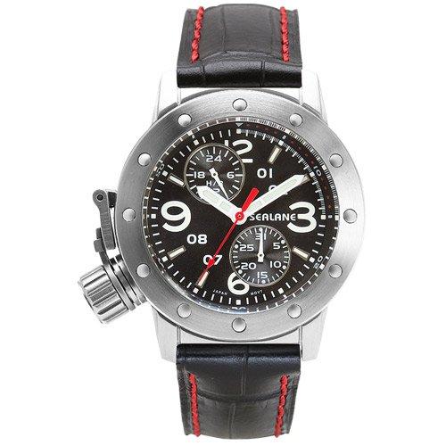 [シーレーン]SEALANE 腕時計 20BAR N夜光 SE41-LBK メンズ