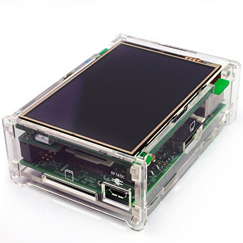 """Jbtek Latest Version 3.5 """" Inch Tft Lcd 480X320 Rgb Pixels Touch Screen Display Monitor For Raspberry Pi With Raspberry Pi Transparent Case Kit [May 2014]"""