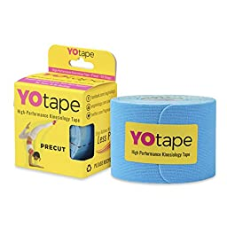 YOtape Kinesiology Tape Precut Athletic Tape for Female Athletes Sports Tape Roll Help Heal and Prevent Injuries (Boss Blue)