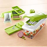 Nicer Dicer Plus Vegetable & Fruit Cutter Slicer Grater Chopper & Peeler 12 Pcs - Includes Bonus Nicer Dicer CD