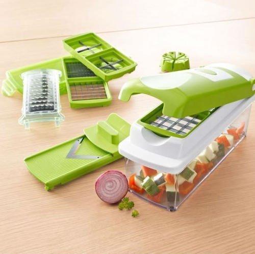 Nicer Dicer Plus Vegetable & Fruit Cutter Slicer Grater Chopper & Peeler 12 Pcs - Includes Bonus Nicer Dicer CD