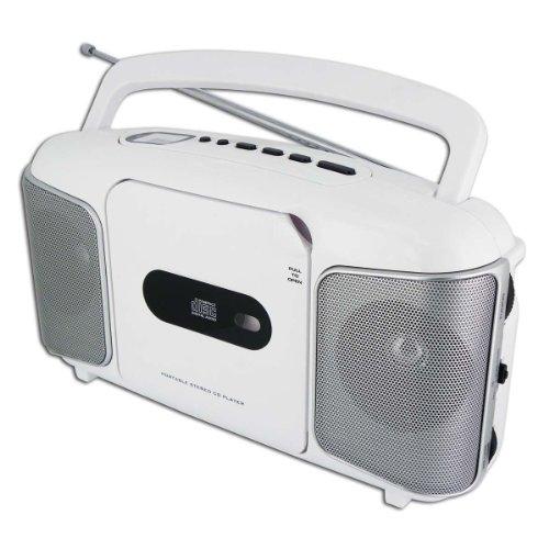 lecteur radio cd portable blanc type transistor radio. Black Bedroom Furniture Sets. Home Design Ideas