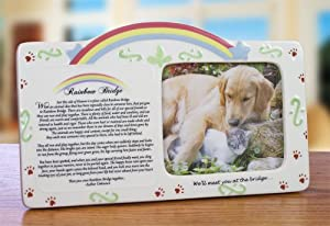Pet Bereavement Photo Frame Rainbow Bridge Poem