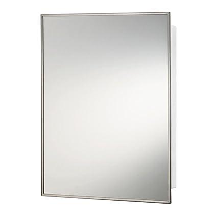 "NuTone 420BC Basic Styleline Recessed 16"" W x 22""H Premium Float Glass Mirror Medicine Cabinet"
