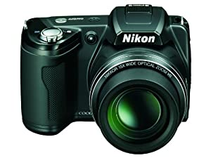Nikon Coolpix L110 Digitalkamera (12,1 Megapixel, 15-fach Weitwinkelzoom, 7,5cm (3,0-Zoll) Display) schwarz