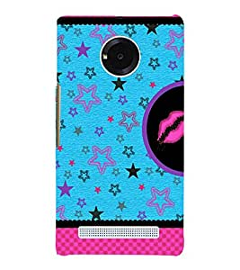 Multiple Star Design 3D Hard Polycarbonate Designer Back Case Cover for YU Yureka Plus