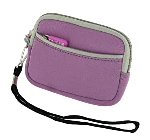 rooCASE Neoprene Sleeve (Lilac) Carrying Case for Sony Cyber-shot Digital Camera DSC-TX20 TX66 TX200V WX50 WX70 WX150 W610 W620 W650 W690