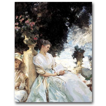 In a Garden, Corfu c. 1909 - Gift Enclosure Cards (set of 12) (Note Cards John Singer Sargent compare prices)