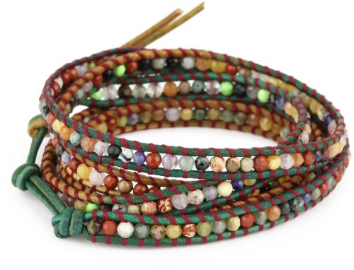 Chan Luu Mixed Semi Precious Stones on Leather
