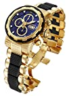 Invicta Mens Reserve Capsule Swiss Made Valjoux 7750 Automatic 18k GP SS Blue Dial Watch 12497
