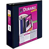 Avery Durable View Binder with 3-Inch Slant Ring, Holds 8.5 x 11-Inch Paper, Black, 1 Binder (17041)
