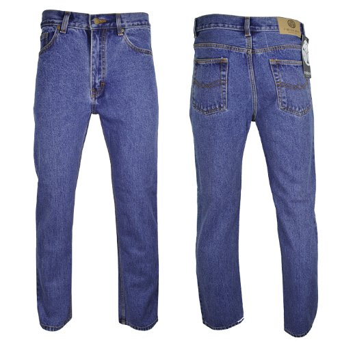 Raiken Regular Fit Straight Leg Jeans Mens Waist W32 Leg L31 Stonewash Blue