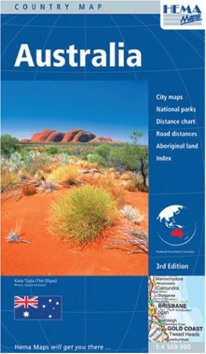 Australia Large Road Map 1:4,500,000 Hema 2011 (Australia Maps)