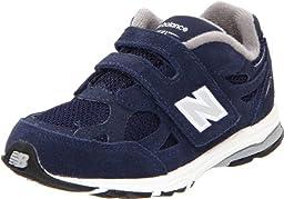 New Balance KV990 Hook and Loop Running Shoe (Infant/Toddler),Navy,3 M US Infant