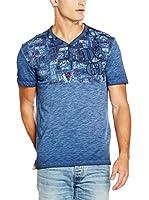 Desigual Camiseta Manga Corta Alix Rep (Azul)