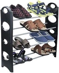Muren Easy to Assemble & light Weight Foldable 4 Shelves Shoe Rack