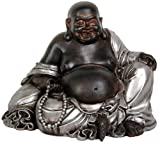 51Ghbm 26bL. SL160  Classic Gift Idea for Dad Father Husband   7 Small Sitting Lucky Buddha in Two Tone Silver Finish