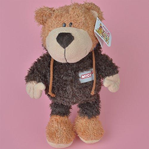 35cm Dark Color Eyebrow Teddy Bear Stuffed Plush Toy (Dora Teddy Bear compare prices)