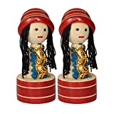 Ratash Wooden Pencil Sharpner With Doll Shapes (3 CM X 2 CM X 8 CM, Red Color)