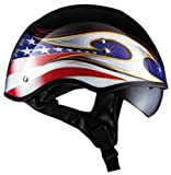 "LS2 Helmets HH566 ""A"" Half Helmet with Colors Graphic and Sun Visor"