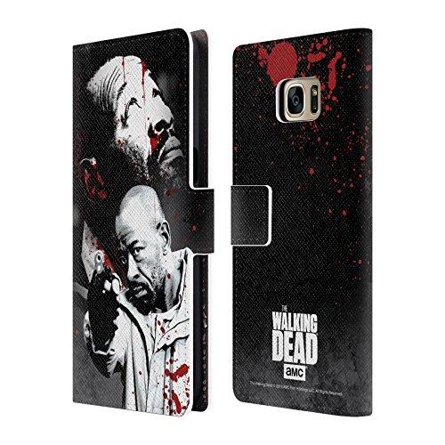Ufficiale AMC The Walking Dead Morgan Sangue Cover a portafoglio in pelle per Samsung Galaxy S7 edge