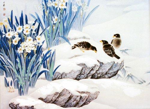 颂风无框油画 中国工笔重彩画系列之奇花异草 JD13272 40 30cm图片