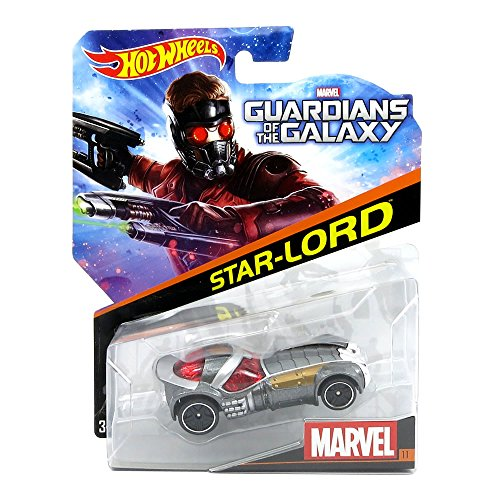 Hot Wheels, Marvel Guardians of the Galaxy Die-Cast Car, Star Lord #11, 1:64 Scale