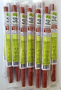 Grass Run Farms 100% Grass-Fed Beef Sticks - Gluten-Free - No Antibiotics or Hormones  (Original, 18-Count)