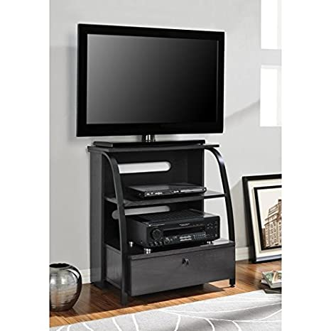 Home Entertainment Center High Compact Design Tv Stand with 2 Shelves and a Storage Drawer