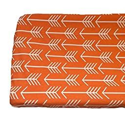 Orange Arrow Changing Pad Cover