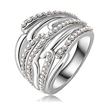 buy Ananta Jewelry Luxury Unique Engagement Rings/Eternity Ring With Platinum Plated Austrian Crystals Fashion Punk Jewelry Ri-Hq0145