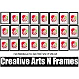Creative Arts N Frames Black Photo Frame With White Mat Set Of 24 / ( Photo Size 5x7'' : Frame Size>9x11'')